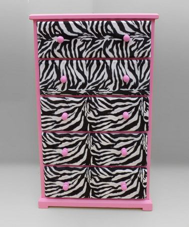 Pink & Zebra Dresser for an animal print room!