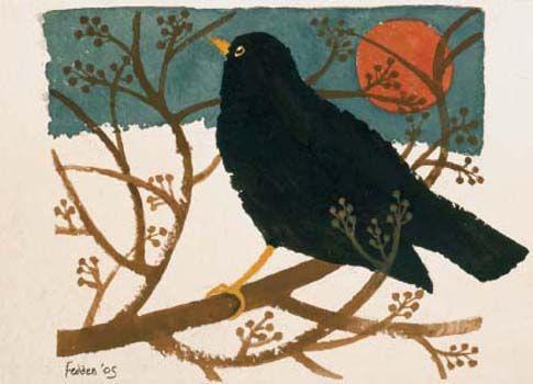 'Blackbird in the Snow' by Mary Fedden
