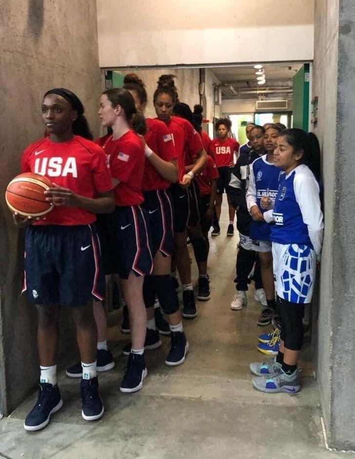 15 Girls Whose Day Turned Into A Mean Joke Usa Basketball Basketball Teams Basketball