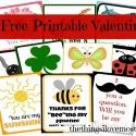 10 Free Printable Valentines Cards from Things I love the most!