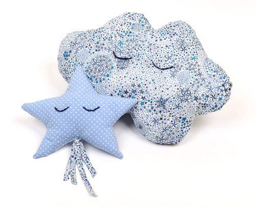 Diy cadeau de naissance : coussin & doudou celestes ! - Le blog de karinethiboult.over-blog.com