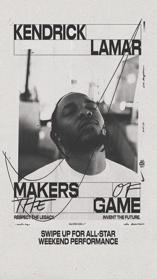 """kasiatheslav: """"Makers of the Game with Kendrick Lamar FISK Graphic Design """""""