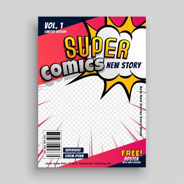comic book cover template psd comic book cover design template in  | book cover design