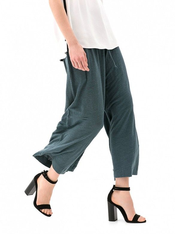 This linen version gives us a high-style casual vibe. // Wide-Leg Linen Trousers by Zara