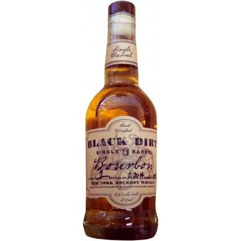 Black Dirt Single Barrel Bourbon Whiskey. Aged for over two years, this single barrel bourbon is made from Black Dirt corn in upstate New York. $49.99