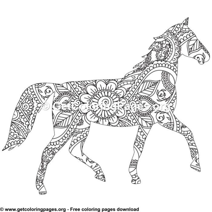 Easy 17 Zentangle Horse Pattern Coloring Pages Horse Coloring Books Pattern Coloring Pages Coloring Pages