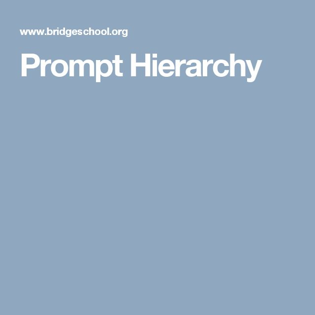 Prompt Hierarchy