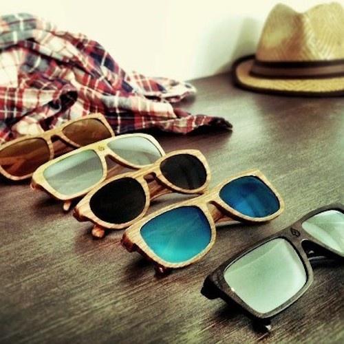 Gafas de madera - originalidad y naturalidad...