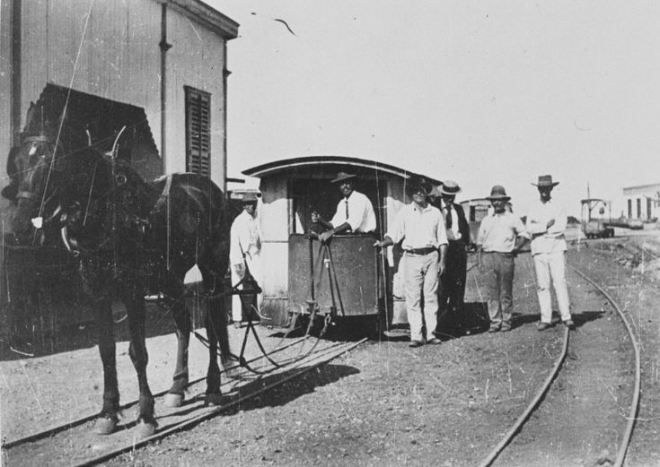 20999PD: Roebourne-Cossack Tramway at Cossack, Western Australia, 1893. http://encore.slwa.wa.gov.au/iii/encore/record/C__Rb4745118__S020999pd__Orightresult__U__X3?lang=eng&suite=def