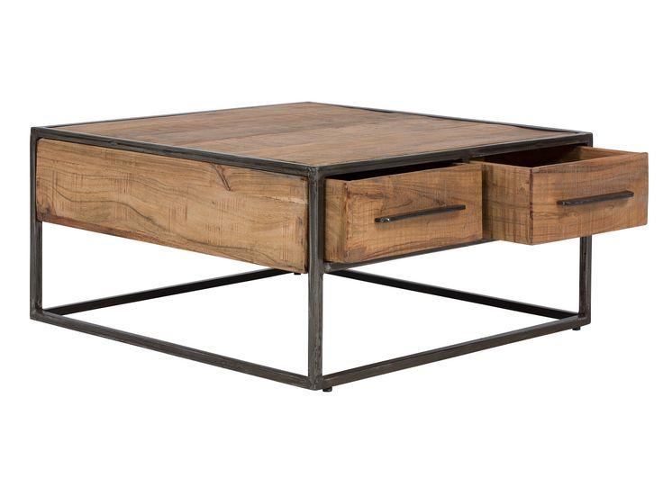 Wwwwohnstatt Ottende Couchtisch Tisch Akazie Metall B80cm Breite