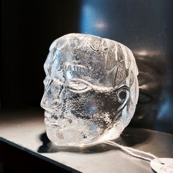 Swedish Kosta Boda Glass Head by Bertil by things4nicepoeople