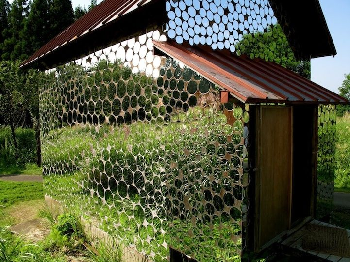 Make your garden shed disappear. Ok. This is truly amazing.