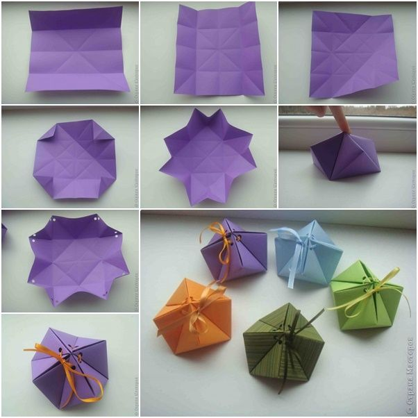 paper origami gift box