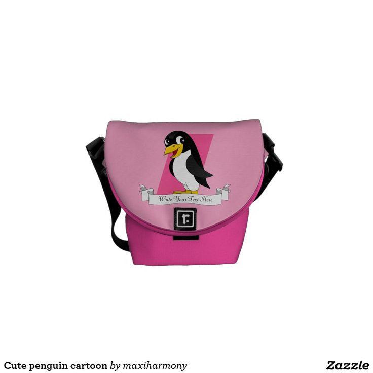 Cute penguin cartoon messenger bags