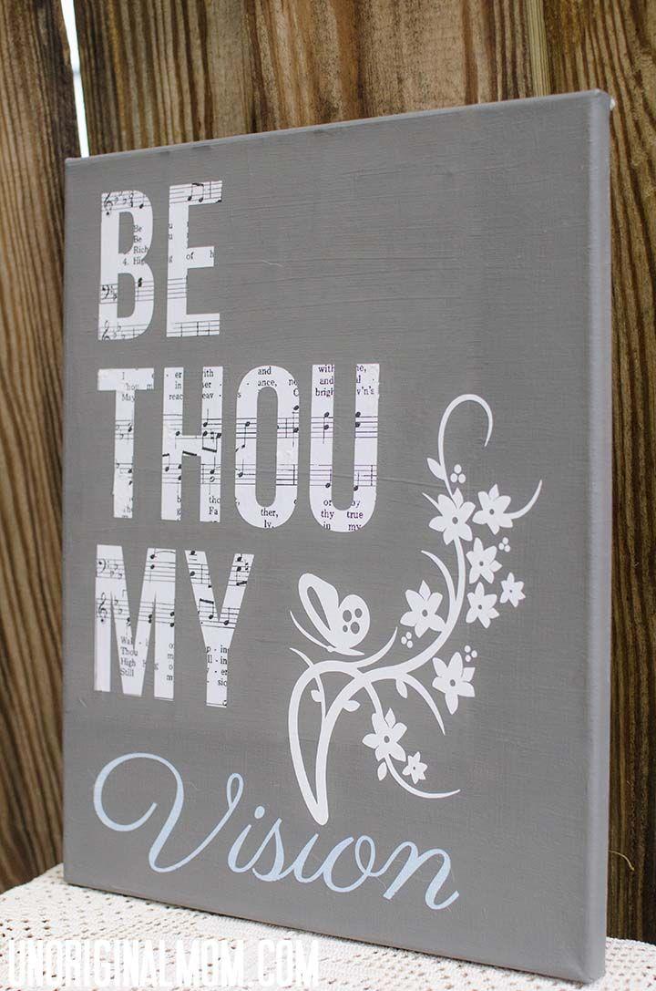 Silhouette Hymn Art - Be Thou My Vision  |  unOriginalMom.com