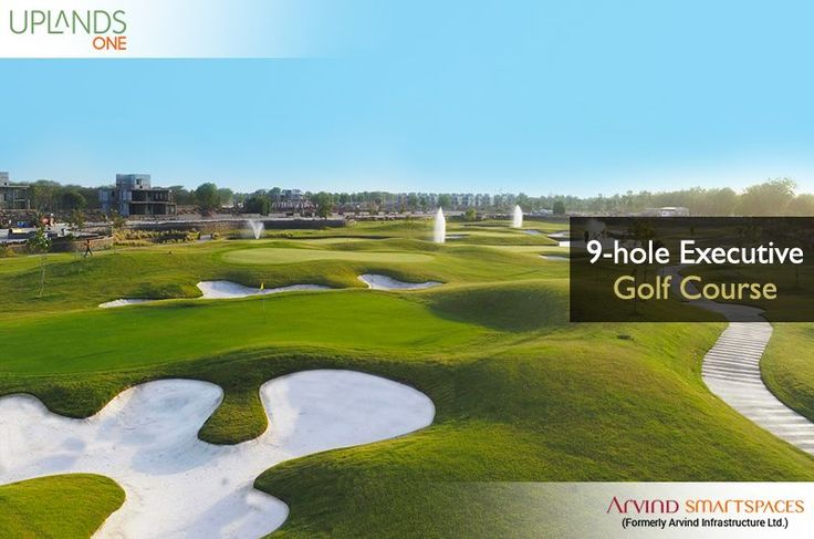 Just the place for those with fine tastes, our 9-hole executive golf course at #Uplands are at your service. Experience #ARicherLife - http://www.arvindsmartspaces.com/about_uplands.php #ArvindSmartspaces #PremiumvillasinAhmedabad #golfvillas