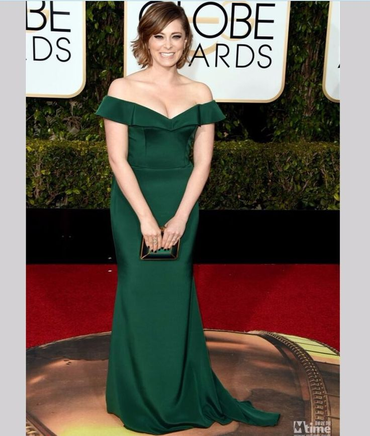 Green Mermaid Rachel Bloom Celebrity Dresses 73rd Golden Globe Awards 2016 Formal Women Evening Dresses abiye gece elbisesi