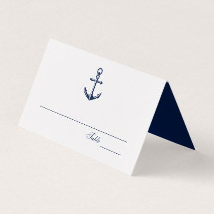 Navy Anchor Nautical Wedding | Place Card - elegant wedding gifts diy accessories ideas