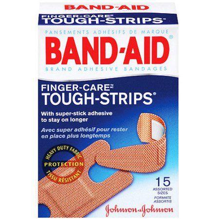 Johnson Johnson Band Aid Tough Strips Adhesive Bandages 15 Ea Walmart Com Band Aid Johnson And Johnson Tough