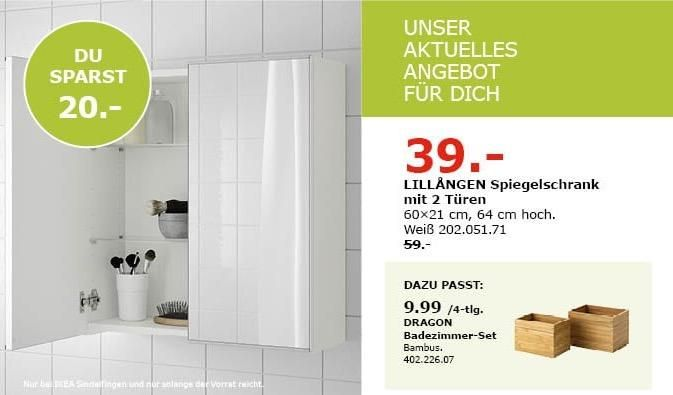 Ikea Sindelfingen Lillangen Spiegelschrank Mit 2 Turen