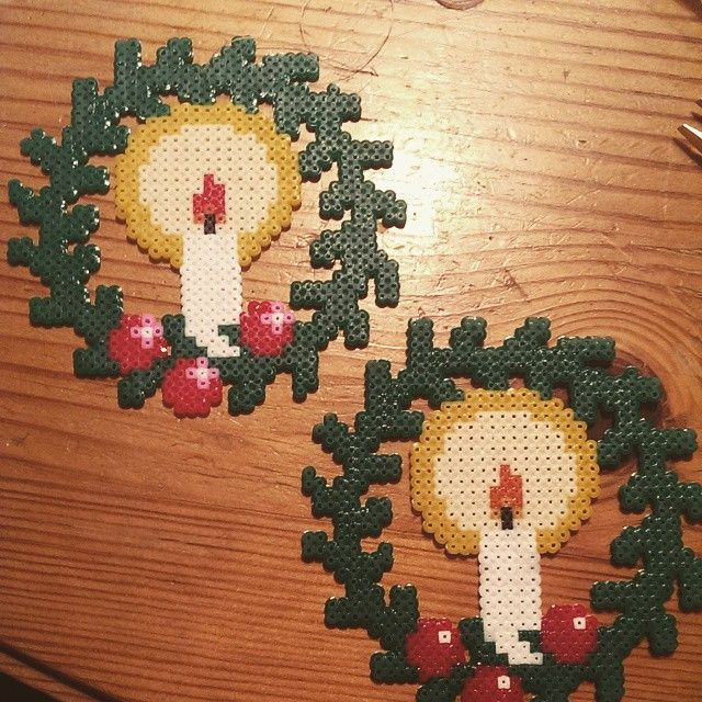Christmas hama beads by frejasbedrifter