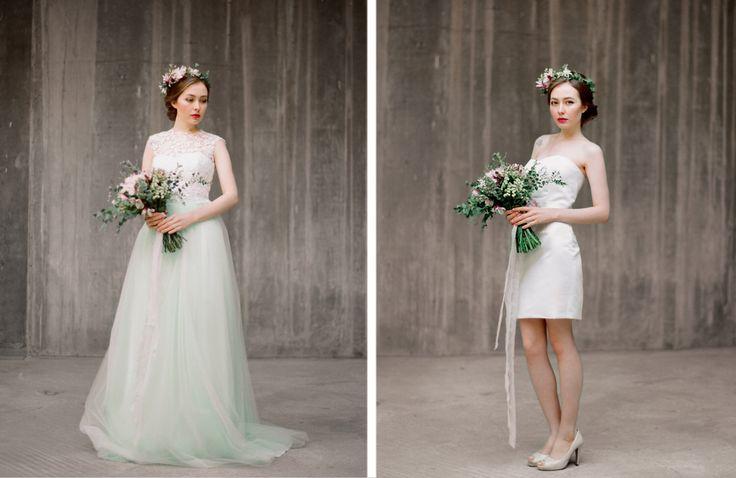 Vesta // Convertible wedding dress - Bridal separates wedding dress - Short wedding dress - Tulle wedding gown - Lace - Wedding separates by Milamirabridal on Etsy https://www.etsy.com/listing/225306217/vesta-convertible-wedding-dress-bridal