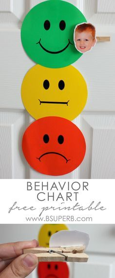 Toddler Behavior Chart with Free Printable and Instructions                                                                                                                                                                                 More