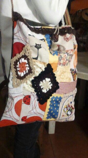 Fantasia creativa patchwork borsa