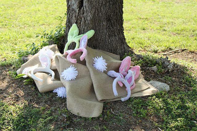 Bunny Hop Sack Race and other great Easter party ideas.