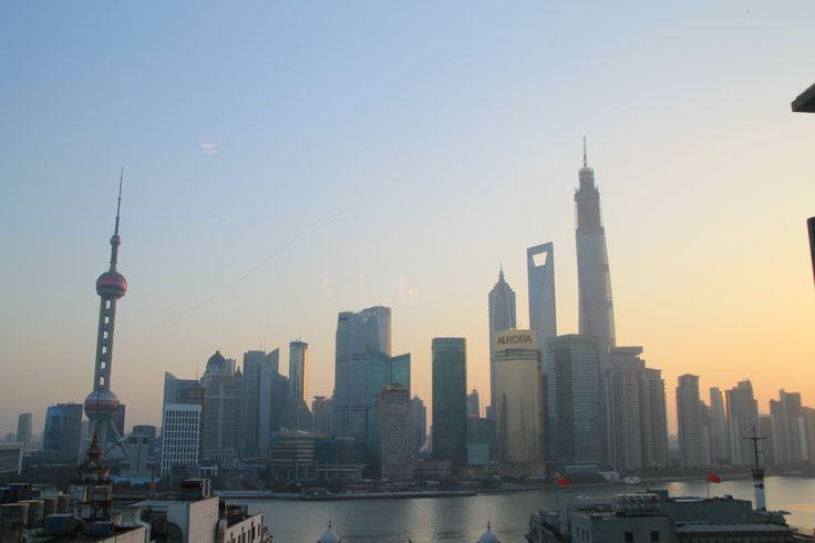 Shanghai skyline in the morning #shanghai #bund