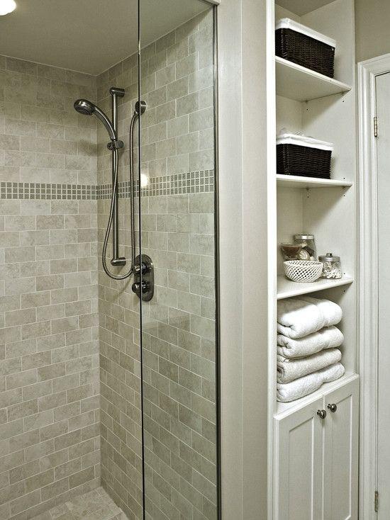 Home Decor Transitional Bath. バスルームのインテリアコーディネイト実例 Can't decide if I like the decorative tile