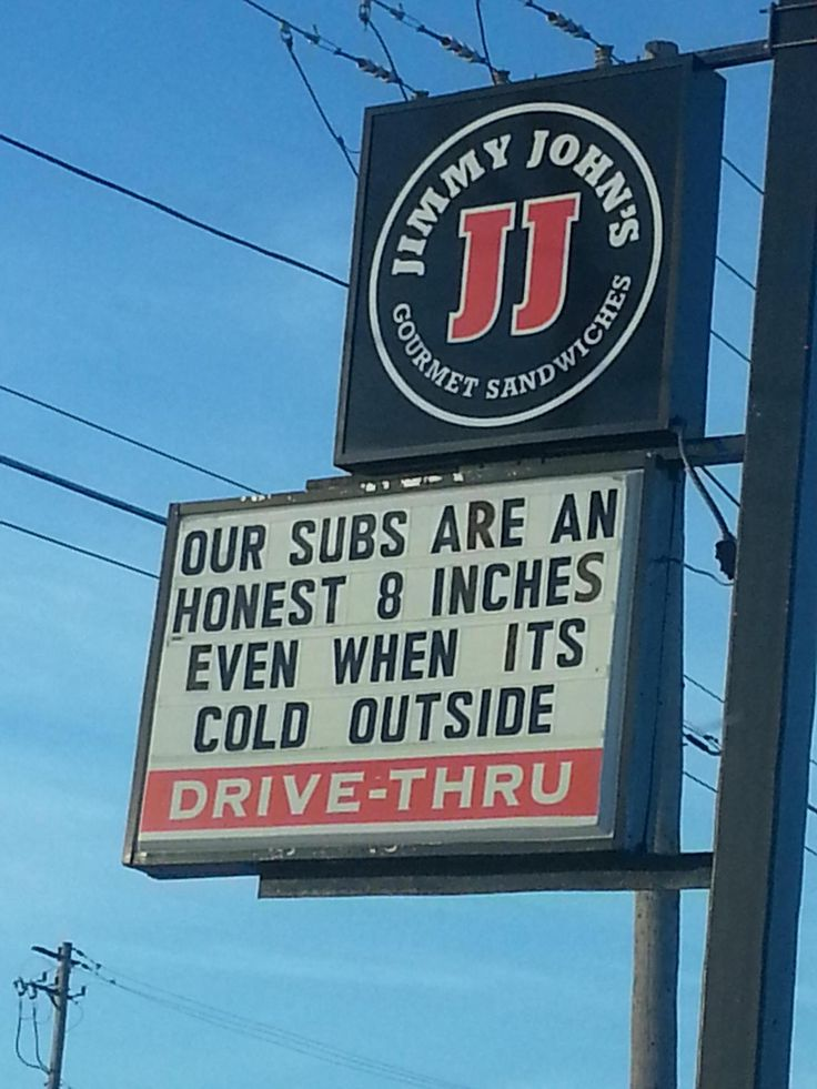 Our subs are an honest 8 inches even when it's cold outside!
