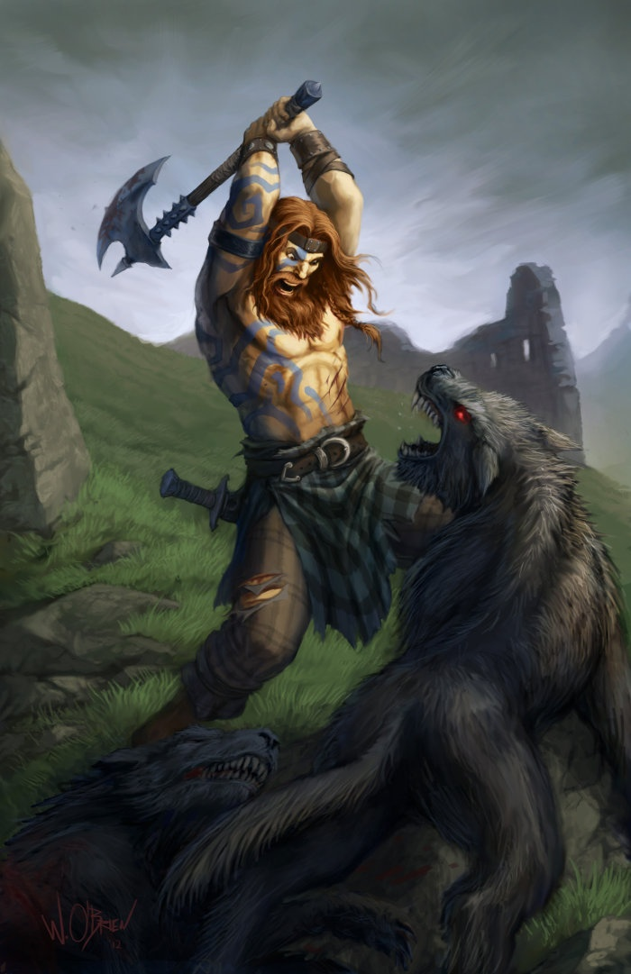 The Celtic Tarot Courtney Davis 9780850309201 Amazon: Celtic Barbarian By Will O'Brien