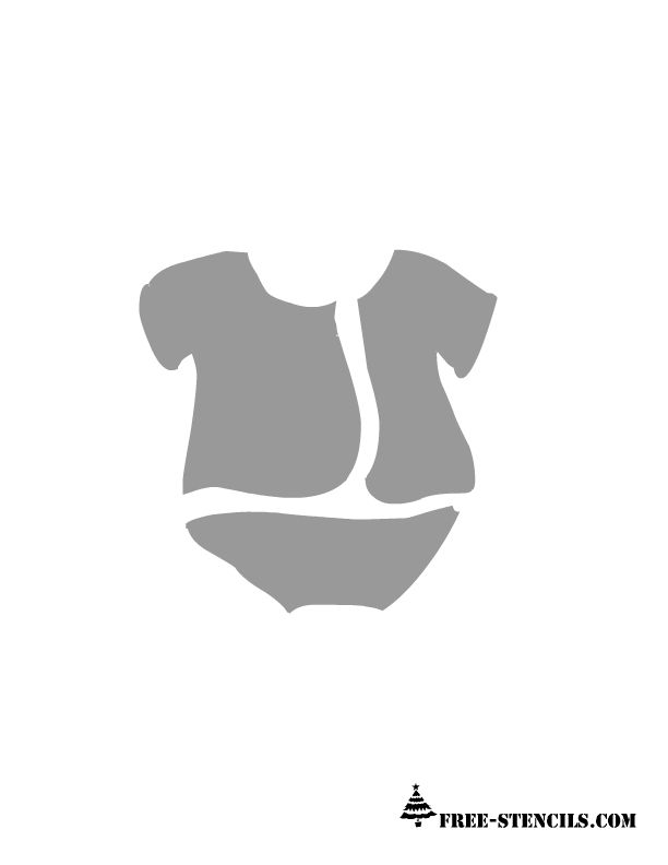 Exceptional Baby Dress Stencil For Shower