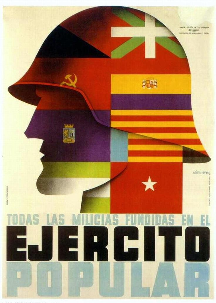Republic propaganda poster | Spanish civil war 1936/39 #Afiches #Carteles #Spain…