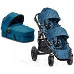 Baby Jogger City Select Tandem Pram   Second Seat   Carrycot teal blue - Collection 2015