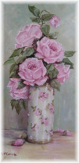 Gail McCormack Original Rose Painting