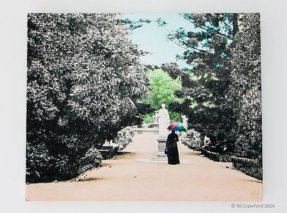 Canvas Print  Afternoon Stroll in the Botanic by CVPublications, $110.00