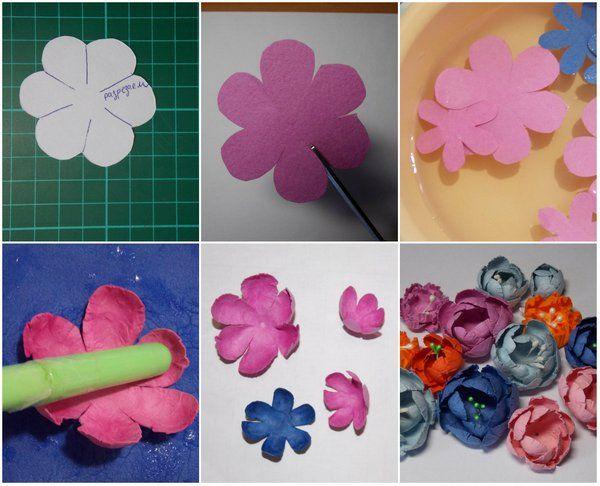 Как сделать цветочки для открыток, открытку анимация