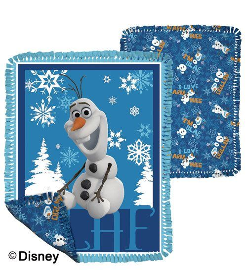 """Ho-Ho-Holiday Blog Hop: Gifts for Quilters - These no-sew fleece throws are perfect for your little one who loves Disney's """"Frozen""""!"""