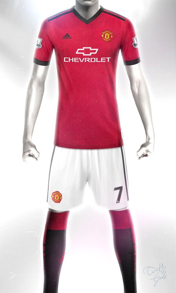 Conceptual Manchester United Home kit design