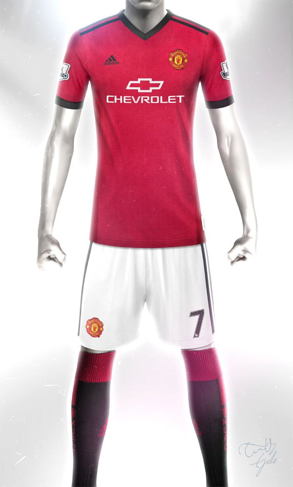 Conceptual Manchester United Home kit design