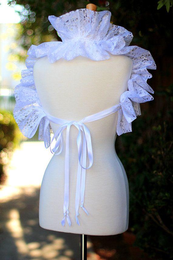 Bianco colletto di pizzo moda collo Ruff di mademoisellemermaid