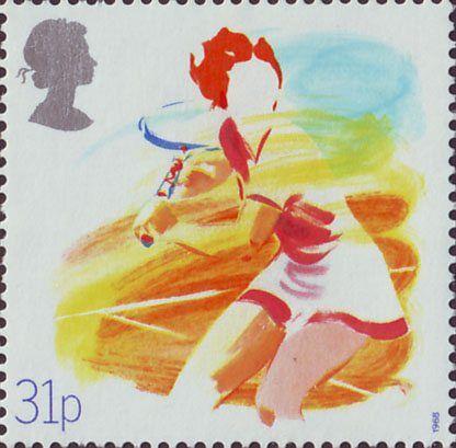 Sport 31p Stamp (1988) Tennis (Centenary of Lawn Tennis Association)