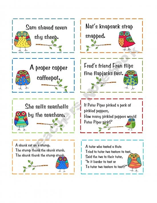 1000+ images about Tongue twisters on Pinterest | Songs, Cards and Sea ...