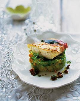Rezept: Steinbutt-Saltimbocca mit Kartoffelpüree