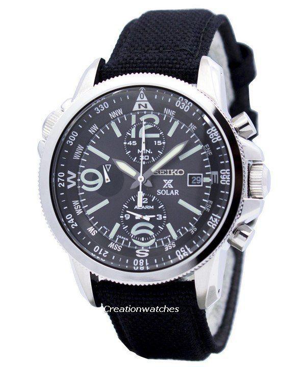Reloj Seiko Prospex Solar militar alarma Cronógrafo SSC293P2 varonil