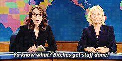 Amy Poehler and Tina Fey, ladies and gentlemen.