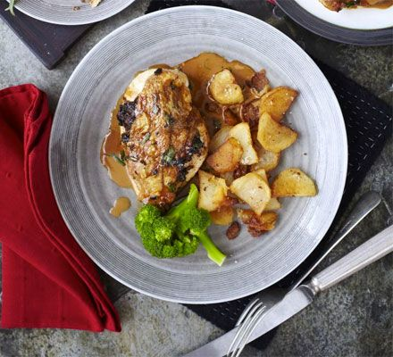 John Torode dishes up a creamy chicken casserole with ceps, tarragon and a white wine cream sauce