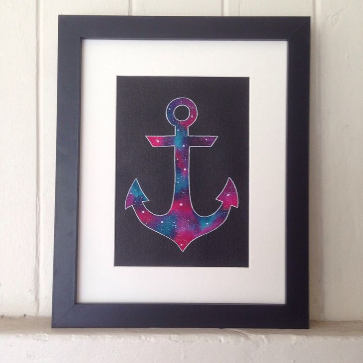 A personal favorite from my Etsy shop https://www.etsy.com/listing/223453375/anchor-galaxy-watercolour-painting